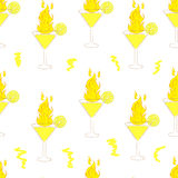 Seamless fiery cocktails Royalty Free Stock Photos