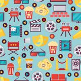 Seamless Film and Cinema Background Design Stock Image