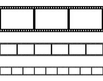 Seamless film strip filmstrip vector Royalty Free Stock Photos