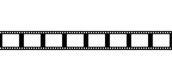 Seamless film strip frame. Vector tape flat Royalty Free Stock Photography
