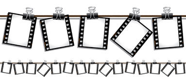 Free Seamless Film Strips Hanging Out To Dry Stock Photos - 13535153