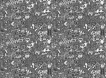 Seamless financial pattern Royalty Free Stock Photos