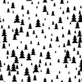 Seamless fir-tree scandinavian pattern. Textile background. Wrapping texture. Stock Photos