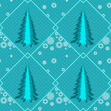 Seamless with fir trees Royalty Free Stock Photography