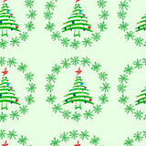 Seamless fir-trees in snow. Seamless texture with festive Christmas fir-trees in snow Royalty Free Stock Photos