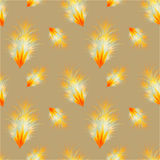 Seamless fire bird feather pattern Stock Photos