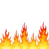 Seamless fire flame background. Vector seamless fire flame background, on white Stock Photo