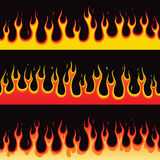 Seamless Fire Flame. Illustration of seamless burning fire flame Stock Image