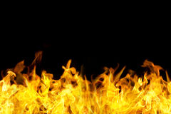 Seamless fire flames border royalty free stock images
