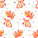 Seamless Firebird pattern Stock Photo