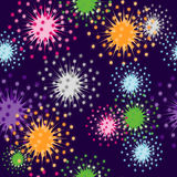 Seamless firecracker wallpaper Stock Photography
