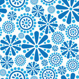 Seamless firework flowers pattern in 1960s style Royalty Free Stock Photos