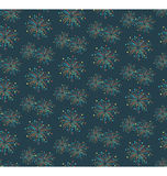 Seamless firework salute pattern isolated on blue. Background Stock Photo