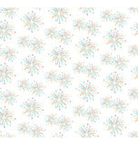 Seamless firework salute pattern isolated on white Stock Images