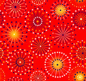 Seamless fireworks pattern Royalty Free Stock Photos
