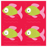 Seamless of  fish Royalty Free Stock Photography