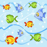 Seamless with fish. Cartoon  illustration Stock Photography