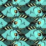 Seamless fish background. Stock Image
