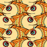 Seamless fish background. Stock Photo