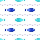 Seamless fish background Stock Image