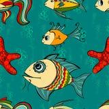 Seamless fish Stock Photos