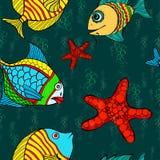 Seamless fish Stock Photo