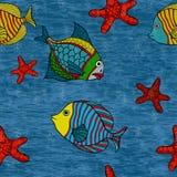 Seamless fish Royalty Free Stock Photos