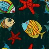 Seamless fish Royalty Free Stock Photography
