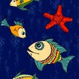 Seamless fish Royalty Free Stock Image