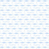 Seamless fish and floral pattern Royalty Free Stock Images