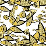 Seamless fish illustrations background abstract, hand drawn. Cartoon, canvas, creative & template. Seamless fish illustrations background abstract, hand drawn Stock Image