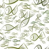 Seamless fish illustrations background abstract, hand drawn. Concept, surface, shape & nature. Seamless fish illustrations background abstract, hand drawn Royalty Free Stock Images