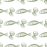 Seamless fish illustrations background abstract, hand drawn. Cover, style, surface & vector. Seamless fish illustrations background abstract, hand drawn Stock Photos