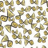 Seamless fish illustrations background abstract, hand drawn. Nature, color, graphic & ocean. Seamless fish illustrations background abstract, hand drawn Stock Photos