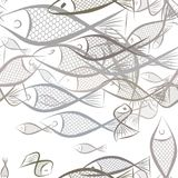 Seamless fish illustrations background abstract, hand drawn. Nature, color, graphic & texture. Seamless fish illustrations background abstract, hand drawn Stock Images