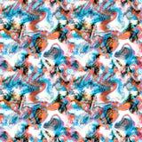 Seamless fish marine pattern exotic Stock Photo