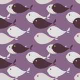 Seamless fish pattern royalty free illustration
