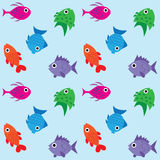 Seamless fish pattern background Royalty Free Stock Photography