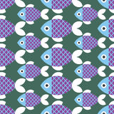 Seamless fish pattern. Colour Background Royalty Free Stock Photography
