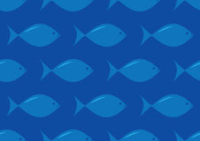 Seamless fish pattern Royalty Free Stock Image