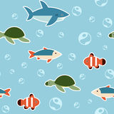 Seamless fish pattern. Vector image of a Seamless fish pattern Stock Images