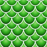 Seamless fish scale pattern. Seamless pattern of colurful green fish scale forming a pattern with white borders Royalty Free Stock Photo