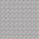 Seamless Fish Scale Pattern Vector Illustration Stock Image