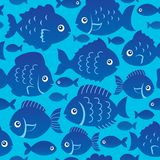 Seamless fish silhouettes theme 2. Eps10 vector illustration Stock Image