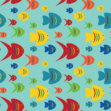 Seamless fishes background Royalty Free Stock Photography