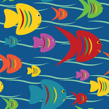 Seamless fishes background Royalty Free Stock Images