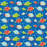 Seamless fishes pattern Royalty Free Stock Photo