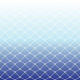 Seamless fishing net pattern on white and blue gradient backgrou. Nd for summer, vector illustration Royalty Free Stock Images