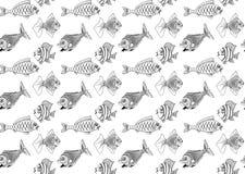 seamless fisk stock illustrationer