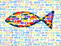 Seamless fiskar vektor illustrationer